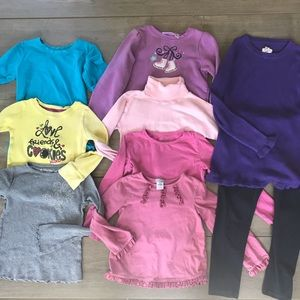 Lot 257 girls clothes fall small / 5 / 6